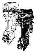 70 HP Evinrude Outboard Motor