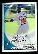 2010 Topps Chrome Starlin Castro Auto