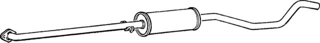 3VL469C MIDDLE SILENCER FOR OPEL VECTRA 1.8 1988-1990
