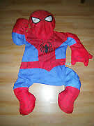 LARGE SPIDERMAN PILLOW ,HEAD HANDS AND FEET ARE STUFFED