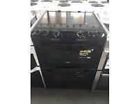ZANUSSI GAS COOKER 60CM IN GLOSS BLACK - 6 MONTHS WARRANTY - FREE DELIVERY