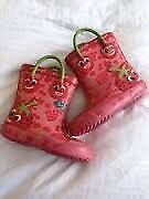 Doodles Strawberry Wellington boots - Girls size 5 (baby-toddler)