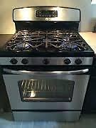 Stainless Steel GAS Convection Stove $690 / Black or White Gas  $425 / Used APPLIANCE SALE!   @  9267-50 Street