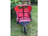 Out n About Nipper 360 Double Buggy/Pushchair Red (V2)