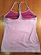 lululemon NWOT - Power Y Tank - Size 8 - Dewberry Wee Stripe