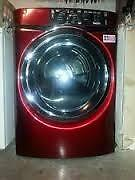 "-  Red  LG WASHER with STEAM Cycle  $400 - Used Appliance - ""SALE"" at 9267 50 Street"