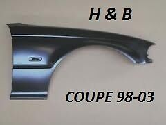 BMW 3 series e46 coupe / convertible front wing painted any colour 1998-2003