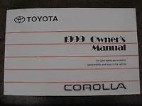 1999 Toyota Corolla Owner's Manual