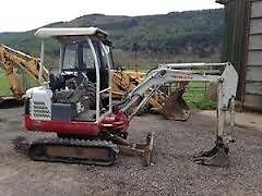 Machine excavations and general tidying