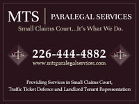 MTS PARALEGAL SERVICES – TRAFFIC TICKET / SMALL CLAIMS COURT