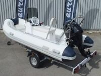 GREAT RIB PACKAGE 3.8M LONG WITH 20 HP OUTBOARD - NEW