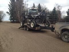 Equipment trailer/mud truck trailer