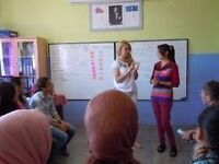 Teaching English to village women in Turkey