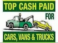SCRAP YOUR CAR TODAY !! WANTED 2 DAY NO MOT NO RUNNERS CASH 4 CARS CARS VANS TRUCK TIPPERS HORSE BOX