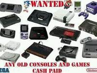 Wanted old consoles