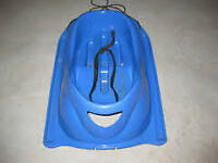 Plastic Blue Baby Sleigh for baby and toddler