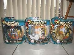 "Brand New - 4"" Thunder Cats Lion-O, Tygra and Mumm-Ra"