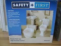 New Safety First Round Elevated Toilet Seat