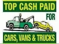 WANTED SCRAP JUNK NON RUNNER MOT FAILURE NO MOT CARS VANS 4X4 CARAVANS CAMPERS FORKLIFTS MOTORHOME