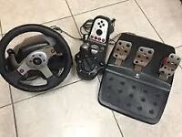 Logitech G25 Steering Wheel pedals and shifter for PCs an PlayStation 3 £100 ONO