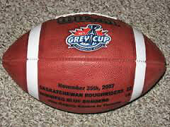 2007 Saskatchewan Roughriders Grey Cup Game Ball CFL