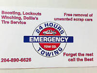 **EMERGENCY TOWING- $50 CITYWIDE- 204-890-6626**