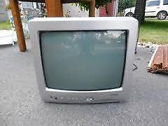 """Toshiba 12"""" TV with remote"""