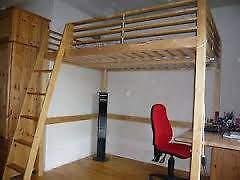 Loft Mezzanine Double Bed Frame Ikea Fjelldal In Croydon