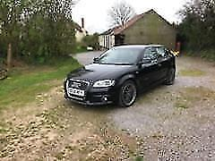 2008 AUDI A3 2.0TDI ( 170PS ) QUATTRO S LINE, 4X4, BLACK WITH LEATHER, AIRCON