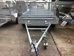 10 x 5 HEAVY DUTY HOT DIPPED GAL TANDEM TRAILER WITH CAGE 3200 kg GVM Erina Gosford Area Preview