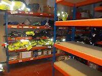 JOB LOT 10 bays RAPID 1 industrial longspan shelving 2.1m high ( storage , pallet racking )