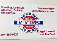 EMERGENCY TOWING- $50 CITYWIDE-CALL 204-890-6626