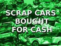 Scrap cars wanted. BEST PRICES. TXT YOUR REG