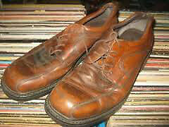 VINTAGE Size 11-12 BASS Leather Shoes Made in Italy Windsor Region Ontario image 1