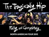 4 Stand Tickets to Tragically Hip in Kirkland Lake (KL)