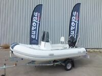 3.8M RIB PACKAGE COMPLETE WITH 20HP TOHATSU OUTBOARD MOTOR AND TWO MAN JOCKEY CONSOLE - JUST GO