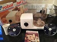 Vintage Robot Chef 2 Food Processor With Superwhisk