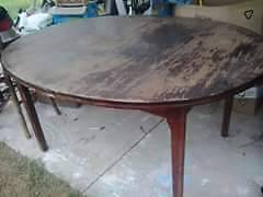 Oval Dining Table - needs sanding and varnish Melton West Melton Area Preview