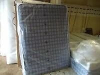 Brand New basic Comfy Blue check mattress FREE delivery Factory sealed