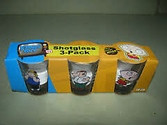 SET OF 3 (BRAND NEW) Family Guy Shot Glasses ALSO Playing Cards