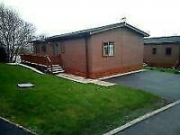 DOUBLE LODGE*FOR SALE*SITED*12 MONTH PET FRIENDLY PARK* nr MORECAMBE