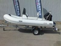 RIB PACKAGE COMPLETE WITH 25HP ELECTRIC START TOHATSU OUTBOARD MOTOR, TWO MAN CONSOLE - WARRANTY