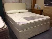 USED KINGSIZE BASE AND MATTRESS FOR SALE. FREE LOCAL DELIVERY.