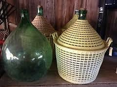 54 Liters green glass ITALIAN WINE Demijohn with spout