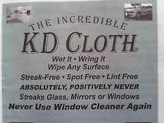Green Cleaning - Streak Free KD Cloth with NO Chemicals at all