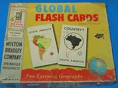 RARE VINTAGE 1958 GLOBAL FLASH CARD SET