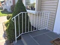 Looking for white metal railings