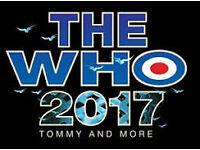 2 x The Who Tickets The SSE Hydro, Glasgow, Fri 7 Apr 2017, 18:30