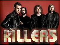 The Killers - 2 tickets London O2 Arena 27 November