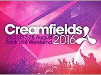 Creamfields Ticket 3 Day Standard Camping